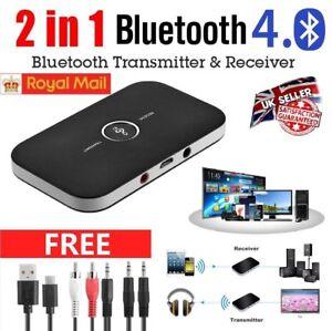 HIFI Wireless Bluetooth 2 in1 Audio Transmitter Receiver 3.5MM RCA Music Adapter 611720061860