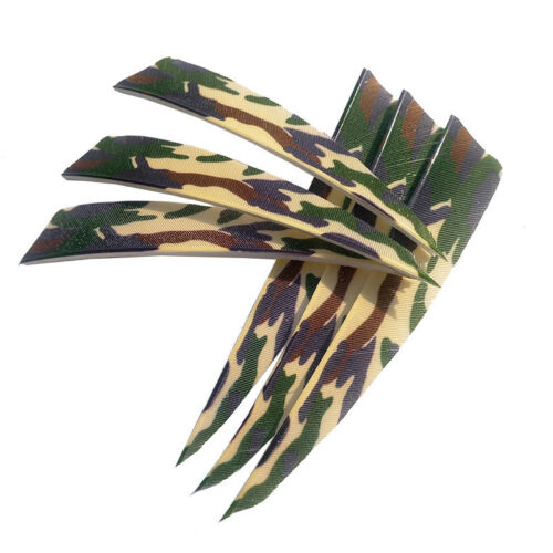 "50pcs 4/"" Archery Arrow Fletches Turkey Feather Shield Shape Fletching Bow Shoot"
