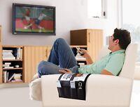 Remote Control Organizer Caddy 4 Pocket Tv Dvd Holder Couch Chair Arm Storage