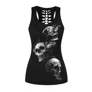 Smoke-Totenkopf-Skull-Schaedel-Totenschaedel-T-Shirt-TOP-Oberteil-16-Muster-BC333