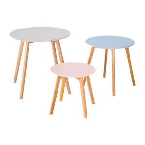 Home-Creation-Tischset-Scandinavia-im-3er-Set-in-stilvollen-Farben-Massivem-Holz