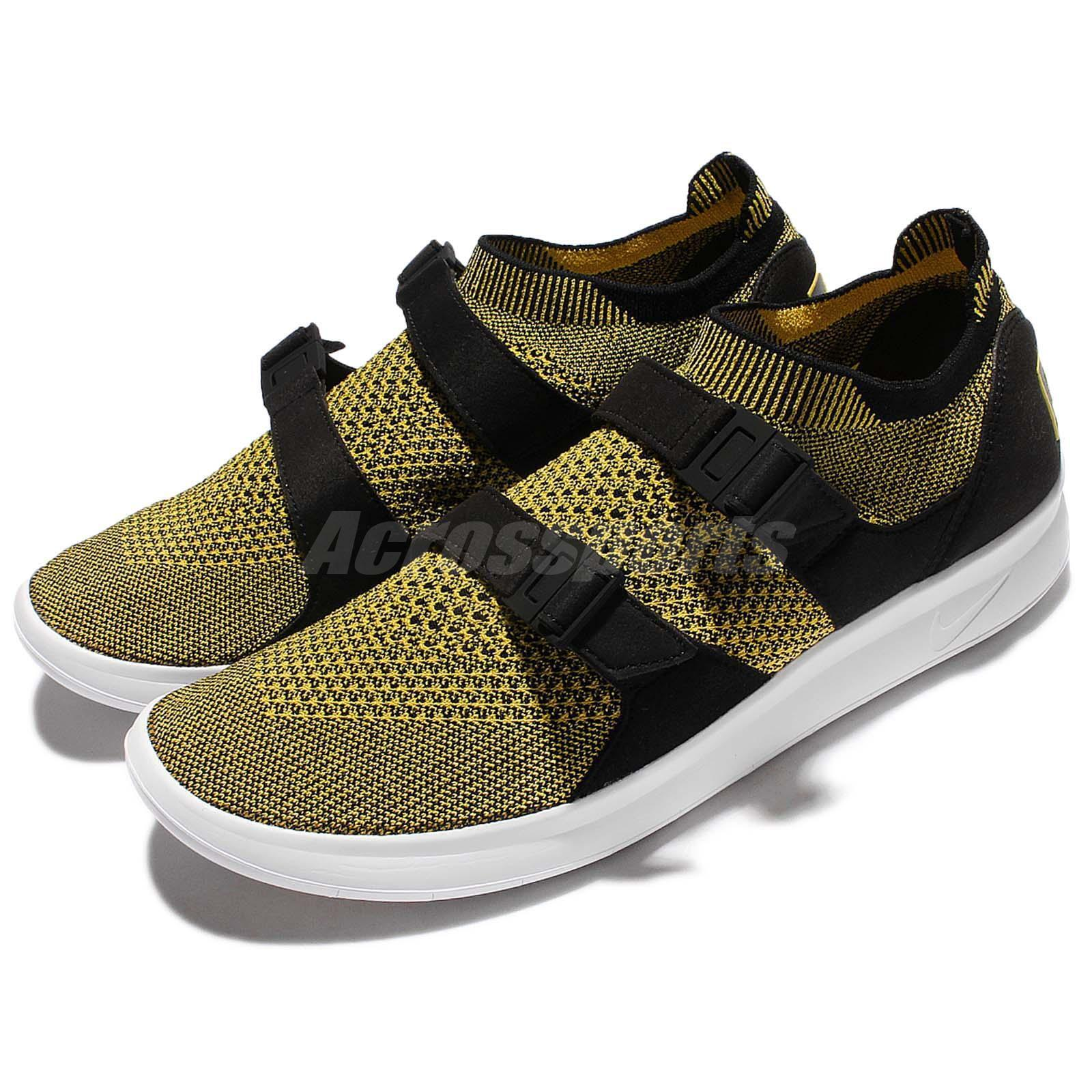 Nike Men's Air Sockracer Flyknit Running Training Shoes Yellow Strike 898022 700