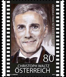 austria 2017 autriche Christoph Waltz Hollywood cinema actor Django Unchained 1v - France - Type: Postage Country/Region of Manufacture: Austria Region: France Topic: sciences tehnologie Quality: Mint Never Hinged/MNH Denomination: art cinema Inglorious Basterd Year of Issue: 2011-Present - France