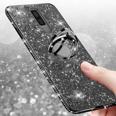 For Samsung Galaxy Note 9 8 S9 Plus Bling Glitter Stand Diamond Slim Case Cover