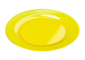 Image is loading 10-Heavy-Duty-Yellow-PLASTIC-PLATES-stylish-dinner-  sc 1 st  eBay & 10 Heavy Duty Yellow PLASTIC PLATES ~ ~ stylish dinner party ware ...