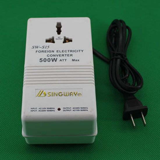 500W Transformer Travel AC Power Converter 240V to 110V / 110V to 240V CZ01