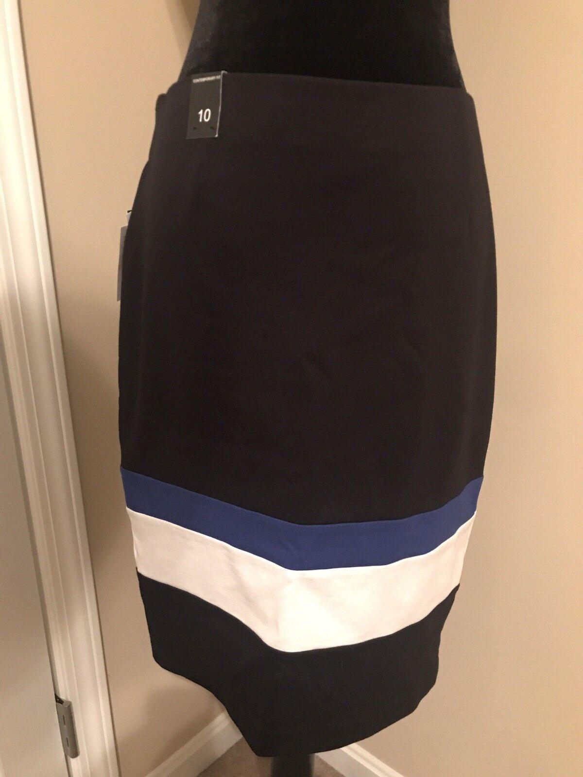 NWT  98 Amanda + Chelsea Skirt 10 Stretch Multi-color color.