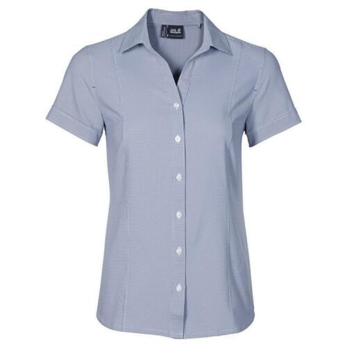 Jack Wolfskin Kepler Shirt Damen Bluse blue indigo checks *UVP 54,99