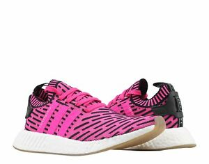 Details about Adidas NMD_R2 PK Primeknit Shock PinkCore Black Men's Running Shoes BY9697