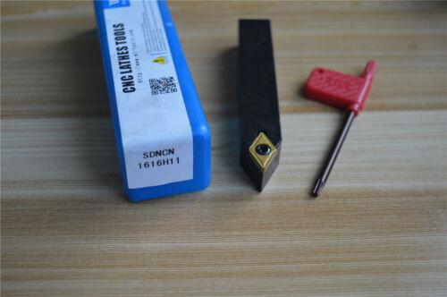1pcs SDNCN1616H11 16 x100mm Lathe External Turning Tool Holder DCMT 11T304