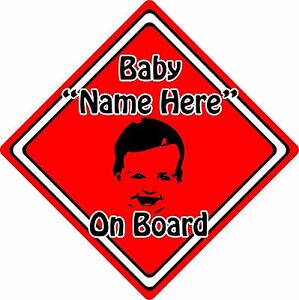 Personalised-Baby-Child-On-Board-Car-Sign-Baby-Face-Silhouette-Neon-Red