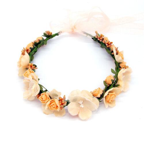 Flower Floral Headband Crown For Bride Wedding Hair Wreaths 50CM #JIU