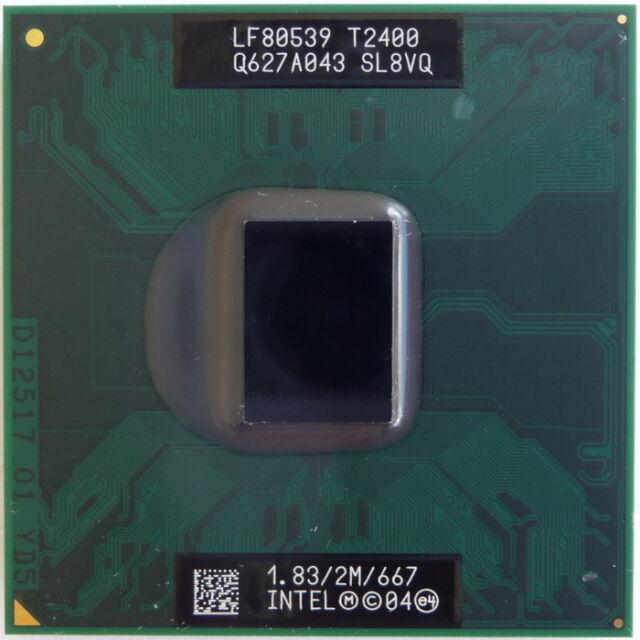 Intel Core Duo CPU 1.833 GHz | 2M | 667 T2400 Mobile Laptop CPU Processor SL8VQ