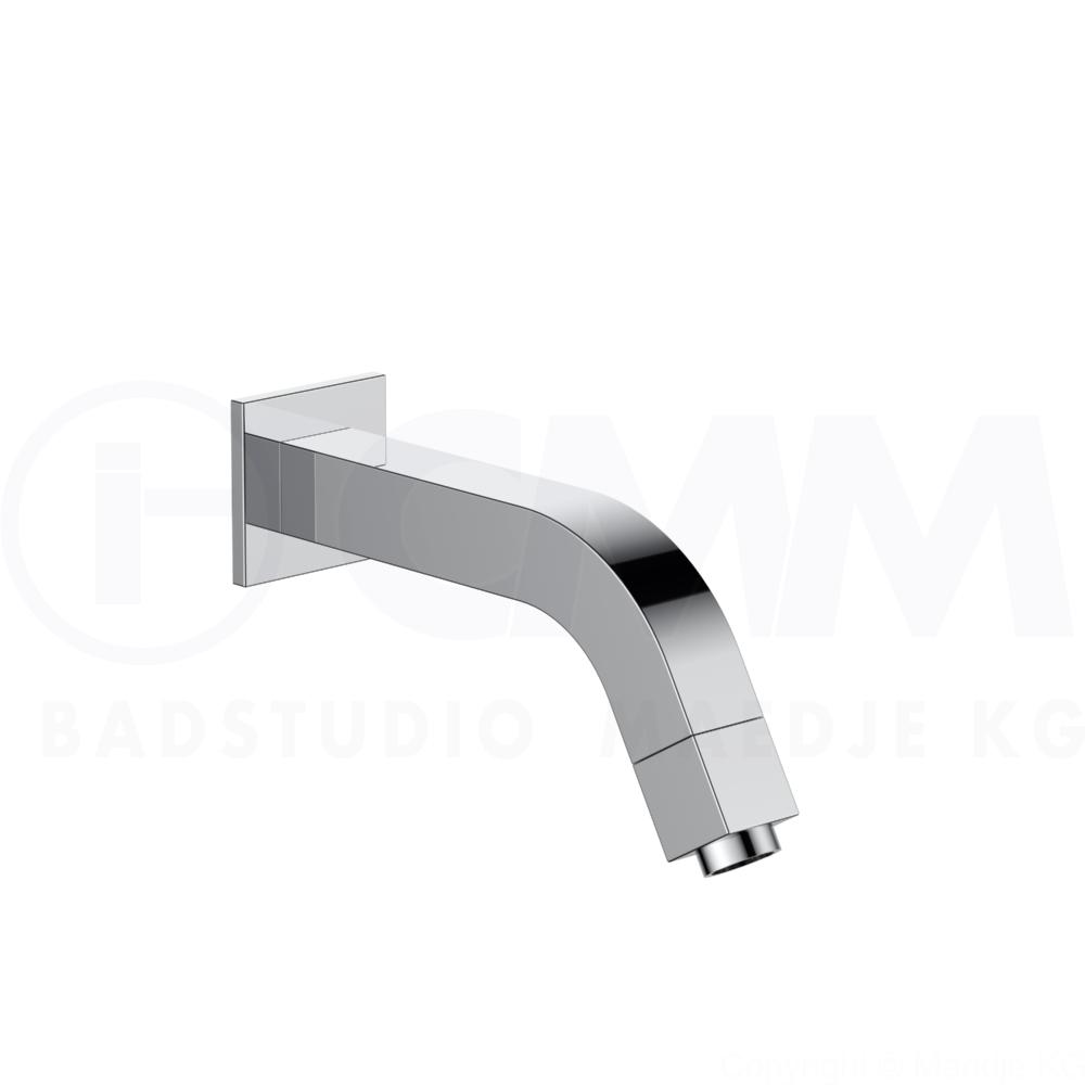 DEUSENFELD WVQ - Design Wandventil  QUADRO  Ventil Wandauslauf Standhahn, chrom