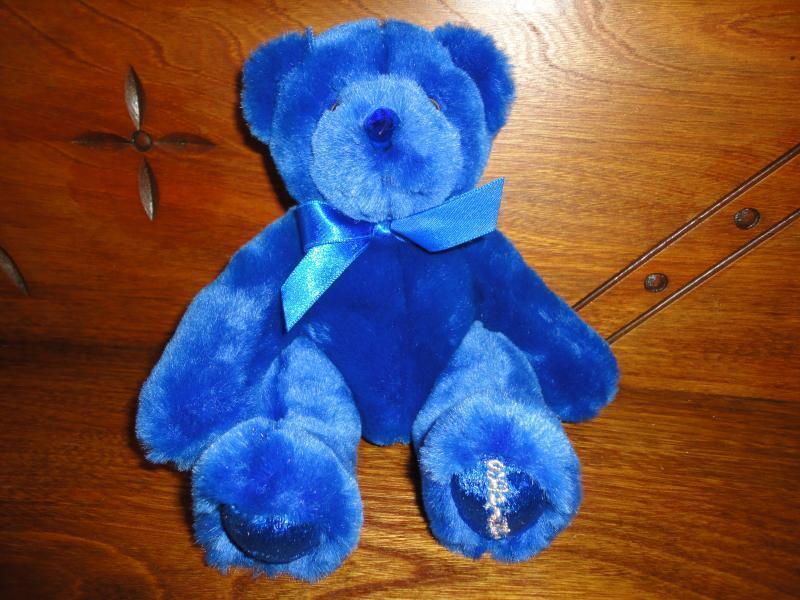 Beverly Hills Birthstone Bear September Blau Sapphire Retirot