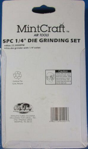 "MintCraft 5 Piece 1//4/"" Die Grinding Set Max RPM 22,000 Fits 1//4/"" Collet"