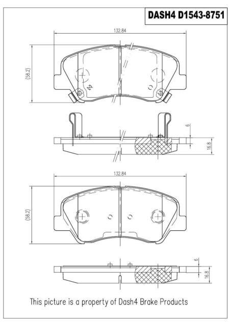 Dash4 CD1734 Ceramic Brake Pad