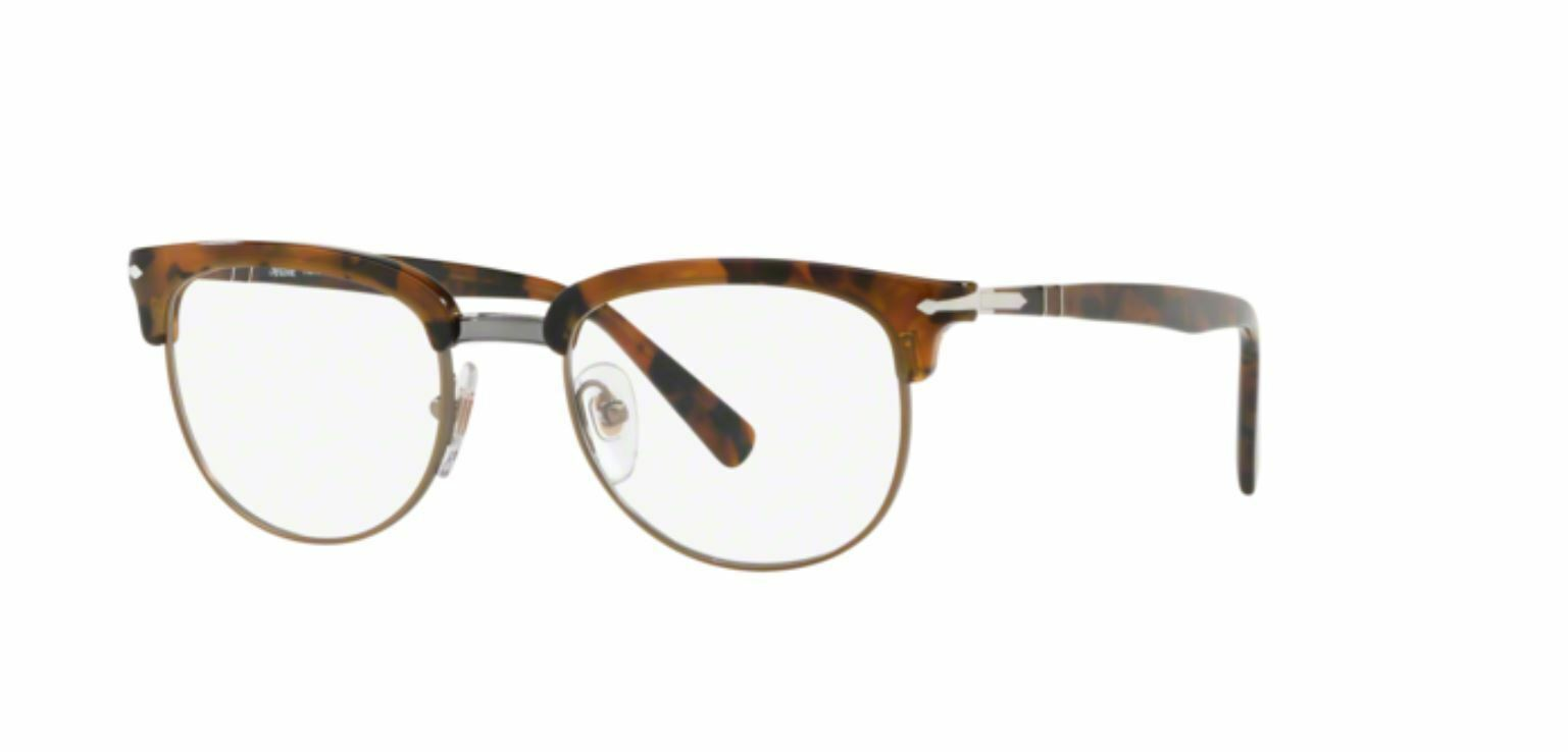 Authentic Persol PO3197V 1073 50MM Dark Brown Tortoise Eyeglasses Optical Frame