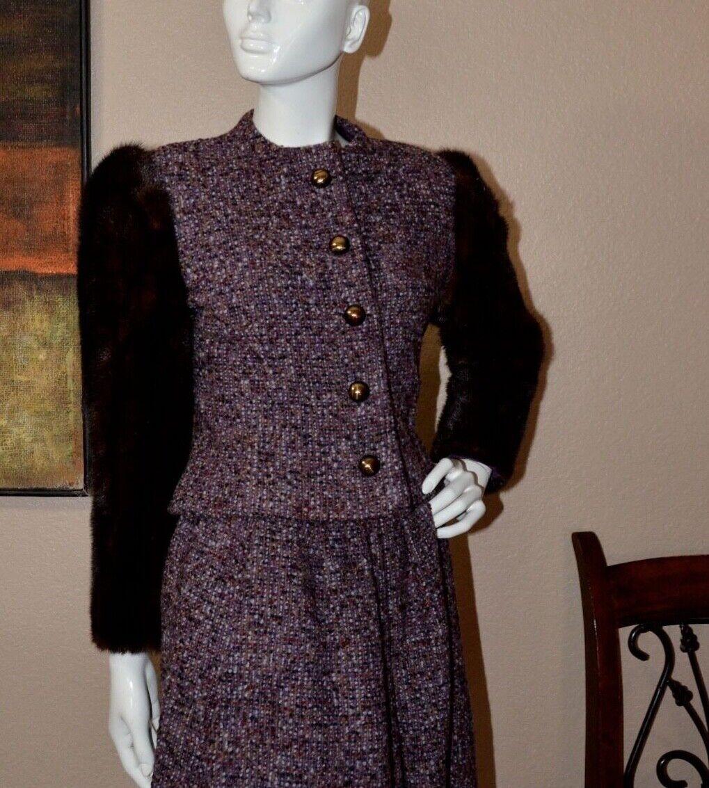 Arnold Scaasi Couture Stunning Vintage Mink Cropp… - image 8