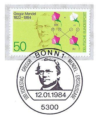 GemäßIgt Brd 1984: Gregor Johann Mendel Nr 1199 Mit Bonner Ersttagssonderstempel! 1a 1610