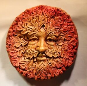 Details about Green man Plaque 'Autumn 'Jack in the green, pagan, wiccan,  mayday,