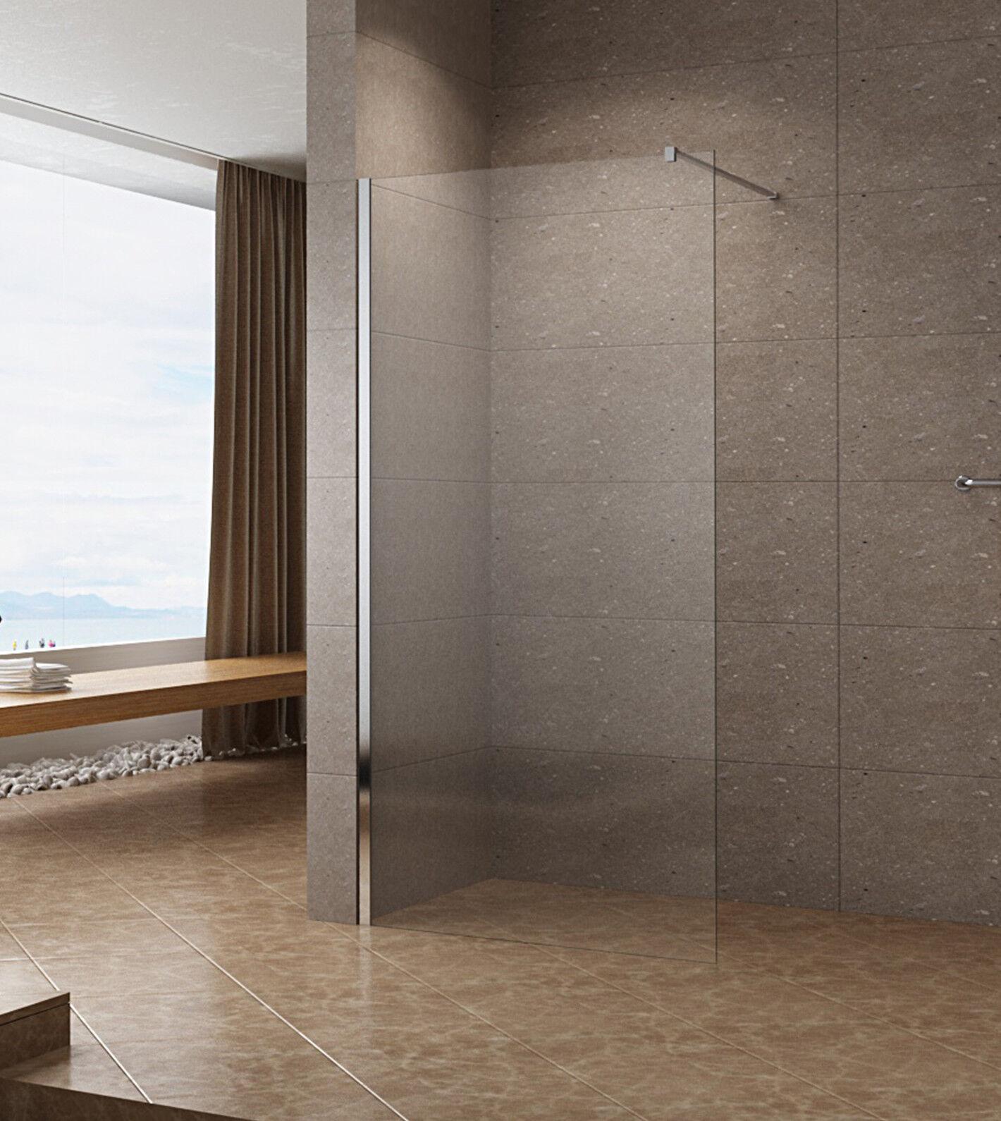 10mm Walkin Dusche Duschabtrennung Duschwand NANO ESG Glas Duschtür 120x200cm