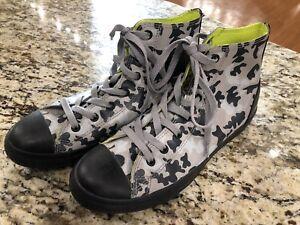 56da5b75f6ff CONVERSE ALL STAR Junior Gray Camo Rubber High Top Sneakers Size 6 ...