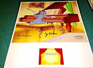 Hanna-Barbera-Tom-And-Jerry-Cel-Award-Winning-Johann-Mouse-Rare-Number-1-HC-Cell