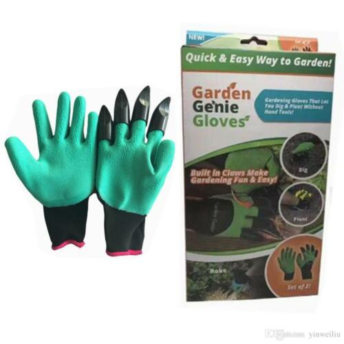 New Garden GENIE Gloves For Digging /& Planting With4 ABS Plastic Claws Gardening