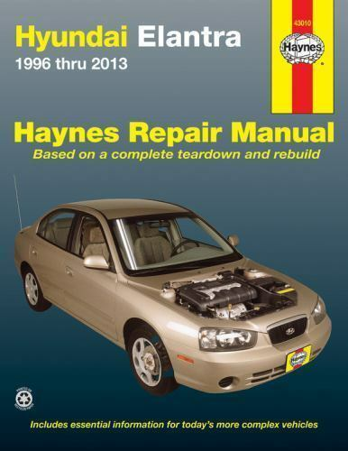Haynes Repair Manual  Hyundai Elantra 1996 Thru 2013 By