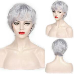 2019-Fashion-Wig-New-Charm-Women-039-s-Short-Silver-Gray-Full-Wig-Wigs