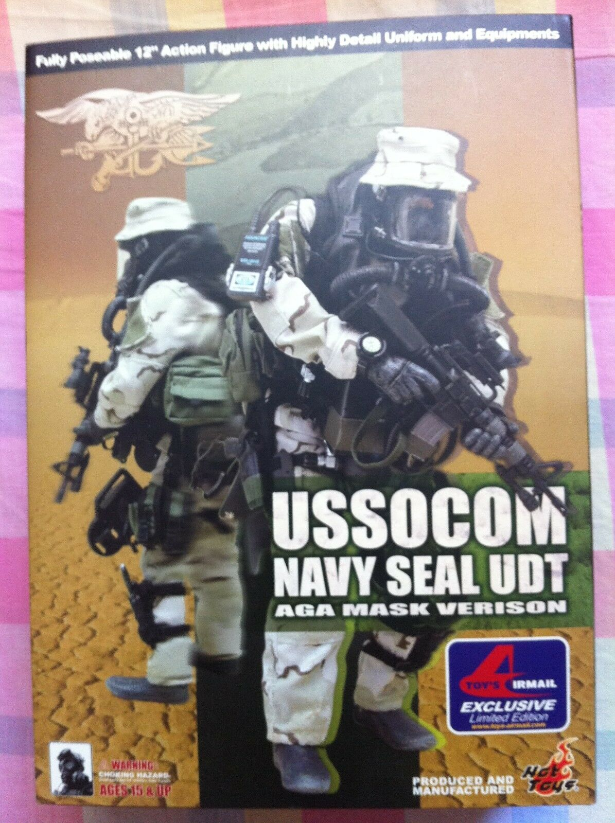 1 6 Hot Toys USSOCOM Navy Seal UDT AGA Mask Version NEW VERY RARE