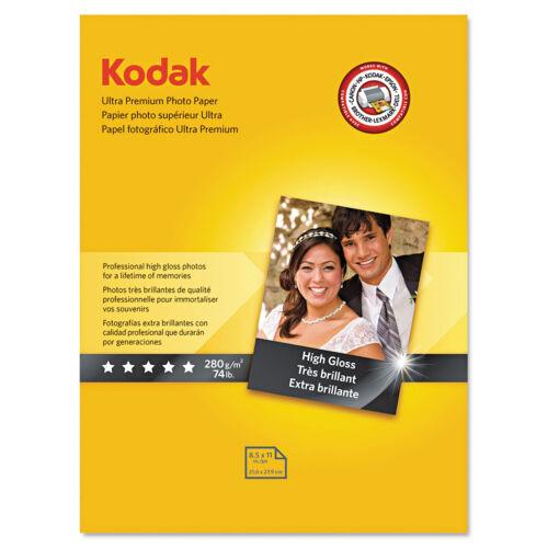 Kodak Ultra Premium Photo Paper 10 mil High-Gloss 8-1//2 x 11 25 Sheets//Pack