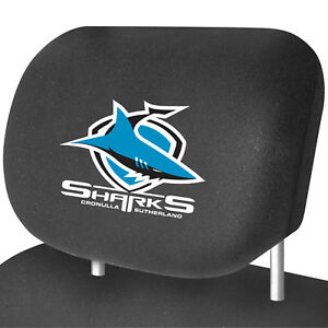 CRONULLA-SHARKS-Official-NRL-Universal-Headrest-Cover-Pairs