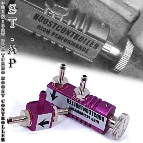 JDM UNIVERSAL RACING ADJUSTABLE 1-30PSI MANUAL TURBO BOOST CONTROLLER KIT PURPLE