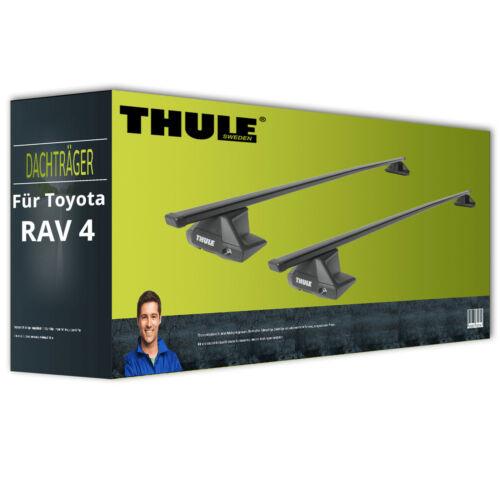 Thule SquareBar Stahl für Toyota RAV 4 IV A4 komplett inkl Dachträger EBA