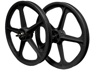 Skyway-Tuff-II-5-Spoke-Wheelset-Black-BMX-Wheelsets