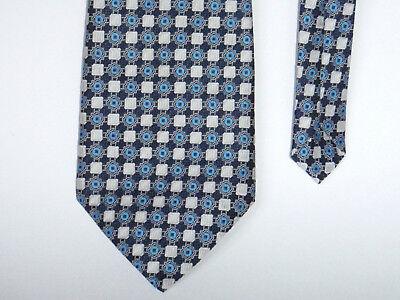 Bellissimo Vintage-extra Larghezza (12 Cm!!!) Cravatta Blu Bianco Con Motivo-trevira Poliestere-mostra Il Titolo Originale Possedere Sapori Cinesi