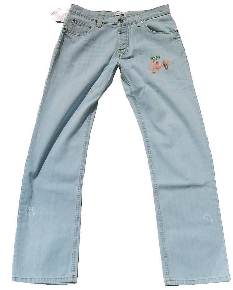 Beach Club David David David 7 Aloha Whykiki Tiki Dj Skull Hawai Star Jeans W34 L34 34 34 3f75fb