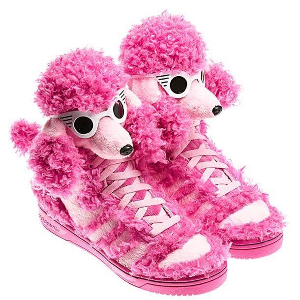 adidas Originals Jeremy Scott Pink Poodle  JS boots hi-tops BNIB  Sizes 7 - 11.5