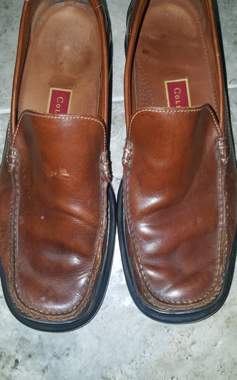 COLE HAAN NIKEAIR 07184 MOC SANTA BARBARA BROWN MOC 07184 TOE LOAFERS Uomo SIZE US11.5 b99828