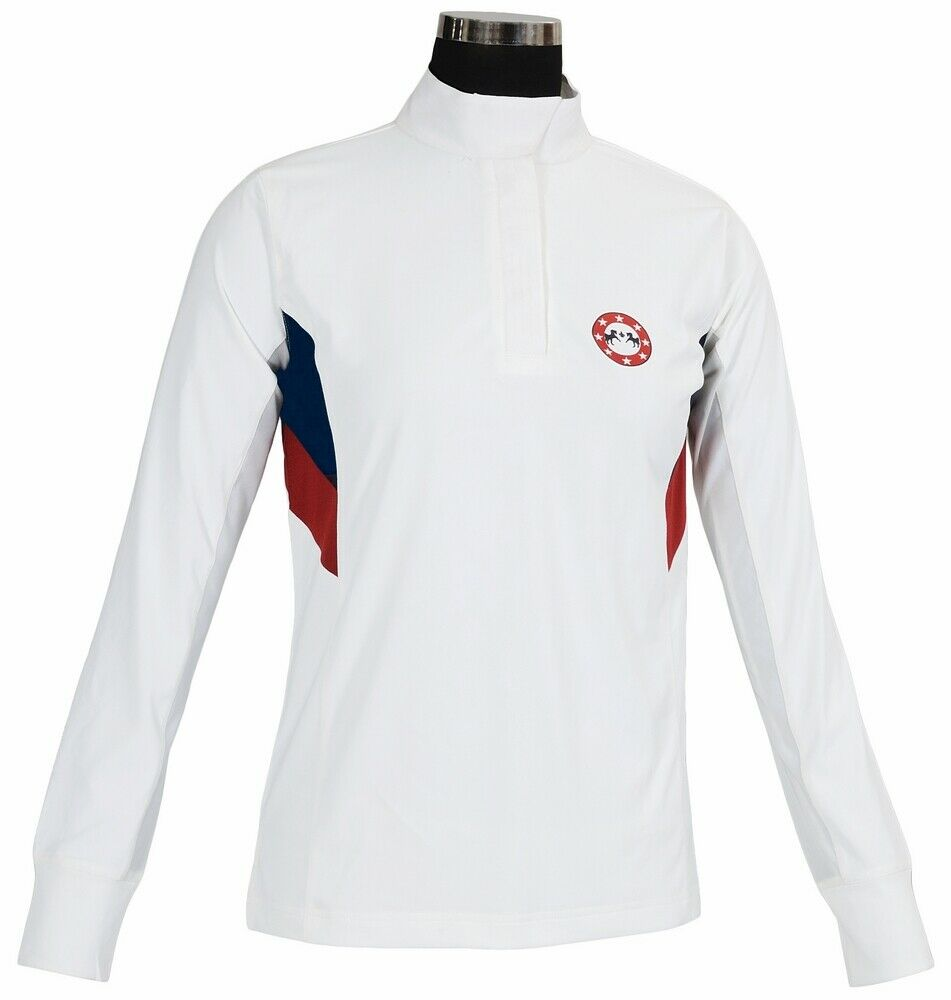 Equine  Couture Ladies Bostonian Long Sleeve Show Shirt  best choice