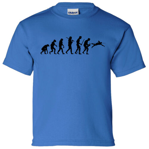 EVOLUTION OF SWIMMING BOYS GIRLS T SHIRT SWIM WATER DIVE FREESTYLE POOL
