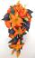 17-piece-Wedding-Bouquet-Bridal-Silk-Flowers-Bouquets-ORANGE-LILY-PURPLE-PLUM thumbnail 1