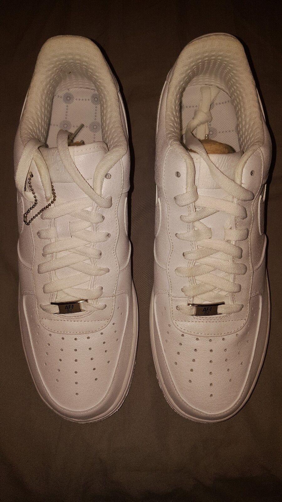2018 Nike Air Force blanco 1 premium '07 cuero blanco Force perla 315180-111 nueva 12 marca de descuento 736d29
