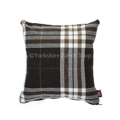 Designer tartan vérifié en tissu modèle coussin rempli coussins britannique fait main