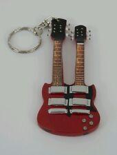 """""""Gibson SG Doubleneck""""-Portachiavi chitarra - Guitar keychain - Guitarra Llavero"""
