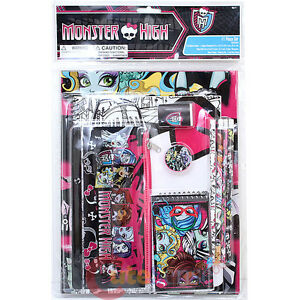 Monster-High-Group-11pc-School-Stationery-Set-Note-Pencil-Pouch-Study-Kit