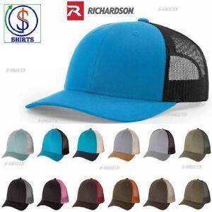 Details about Richardson Low Profile Trucker Caps Men's Hats 115 adjustable  snap back New SALE