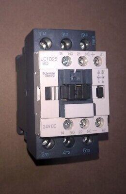 Schneider LC1D25BD 24 VDC Coil Motor Starter Contactor LC1D25 BD LC1 D25